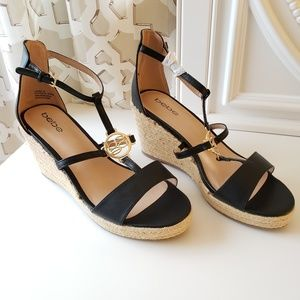New bebe Wedge Heels, Size 10